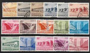 Venezuela: 1956; Scott C613-C628, Used, Public works. EBV059