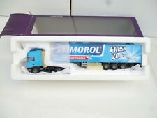 LION CAR// LION TOYS 1:50 SCANIA R 470 STIMOROL IN BLUE   TRAILER NEW OVP