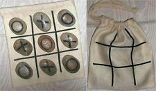 NOUGHTS & CROSSES No waste ECO Reuse HANDMADE O's X's Game & Bag NEW GIFT