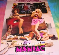 THE INVISIBLE MANIAC Cult Classic Sex Comedy Orig. Monster Movie Poster 27x40