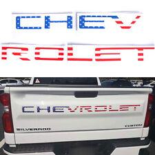 For 2019-20 CHEVROLET Silverado 1500 2500 3500 USA Flag Tailgate Decal Sticker