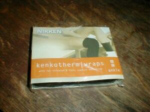 NEW Nikken Kenko-Therm Magnet Therapy ANKLE Sleeve Comfort Wrap =  #1831