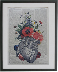 Human Heart Dictionary Print No.237, medical gifts, nurses gifts, doctor gifts