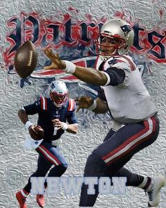 New England Patriots Lithograph print of  Cam Newton 2020