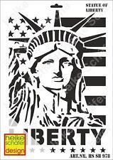 Schablone-Stencil A3 075-0978 Statue of Liberty -Neu- Heike Schäfer Design