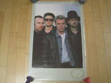 Look! 1986 vtg U2 band members promo Poster Concert art Music Nos bono the edge