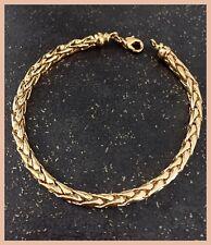 Bracelet Maille Palmier Plaqué Or 18 carats 20 cm x 4mm Bijoux Femme