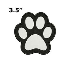 "BLACK 2 SMALL PAW PRINT 3//4/"" X 1/"" IRON ON PATCHES"