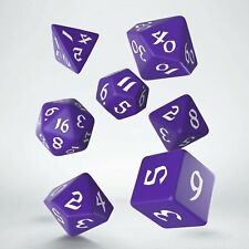 Classic Runic Purple & white Dice Set (7)