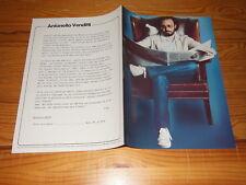 Antonello Venditti-Sotto la pioggia/Teldec PROMO-HeFT (din-a-4) 1982