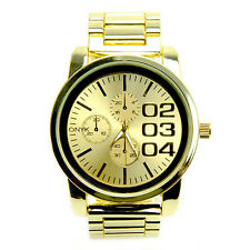 Men's Fashion Analog Stainless Steel Back Metal Heavy Band Watches 0885 G
