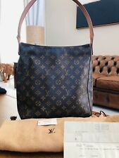 Receipt. Genuine Louis vuitton LV Looping GM Bag Tote Womens Bucket Handbag