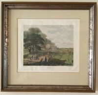 "A Vintage Hand Colored Engraving ""Autumn"" After J. Dearman Signed & Framed"