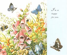 Marjolein Bastin Butterfly Garden Congratulations Hallmark Greeting Card