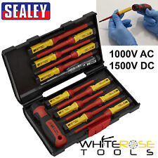 Sealey Interchangable Screwdriver Set VDE 1000V AC 1500V DC Hybrid 13pc Kit Torx