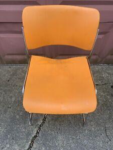 Vintage David Rowland (40/4) Light Orange Modern Stacking Steel Chair