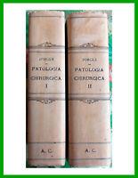 ✅ Forgue 1923 PATOLOGIA CHIRURGICA 2 Volumi illustrati-Società Editrice Libraria