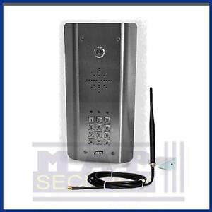 AES - BRUSHED STEEL AUDIO PANEL GSM INTERCOM / ENTRY KIT WITH KEYPAD! UK POSTING