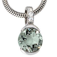 NEU Diamanten Anhänger Amethyst hellgrün 585 Gold Weißgold Brillant 585er 14 KT
