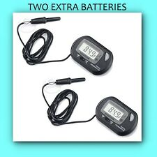 2 TINY SEAS Digital LCD Aquarium Temperature Thermometer 2 FREE EXTRA BATTERIES