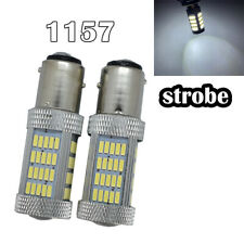 Strobe Brake Light 1157 2057 2397 3496 7528 BAY15D P21/5W 92 LED White M1 GM MA