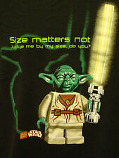 Star Wars Lego Jedi Master Yoda Judge By My Size Black Large T-Shirt Light Saber
