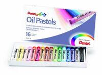 Pentel Oil Pastel Set Artists Fade Resistant Colour Oil Pastels (16 Piece Set)