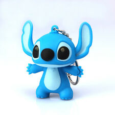 4x4cm Blue Cute Stitch Figure key Chain Pendant Cartoon Toy Gift Collection Xmas