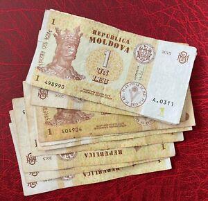 10 Pieces Moldova 1 Leu ** VF **
