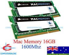 Corsair Mac Memory 16GB RAM 1600MHz DDR3 SODIMM 2x8GB Apple iMac MacBook Pro C11