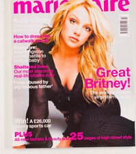 Britney Spears Kate Moss Alex Kingston BRITISH MARIE CLAIRE FASHION MAGAZINE UK