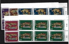 LUXEMBOURG SG915/9, 1973 WELFARE FUND MNH CORNER BLOCKS OF 6