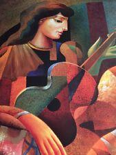 Oleg / Guitar Lesson Poster / Winn Devon Art 1999