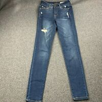 AEROPOSTALE WOMEN SIZE 00 REGULAR HIGH WAISTED JEGGING DENIM JEANS EUC