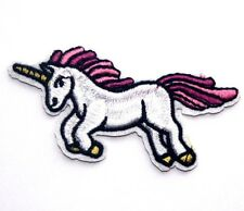 Unicorn Embroidered Iron Sew On Patch Applique Badge Motif pony horse Pegasus