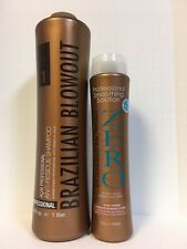 ZERO BRAZILIAN BLOWOUT PROFESSIONAL SMOOTHING SOLUTION & ANTI RESIDUE SHAMPOO