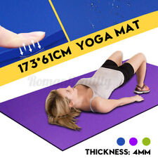 """4MM Thick Durable Extra Thick Exercise Yoga Mat Non-slip Fitness Pad Mat 68""""X24"""""""
