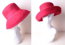 "Vintage Red Felt Can Be Worn 2 Ways Lampshade or Deep Brim Hat Size Medium 23"""