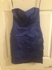 Dorothy Perkins Indigo Satin Cocktail Dress (Size 6)  ***NEW WITH TAGS***