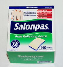 SALONPAS 140 Pain Relieving Patches External Arthritis Back Relief NEW IMPROVED