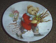 Holly Jolly Bears Limted Edition Franklin Mint Porcelain Plate