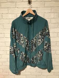 VTG Shell Suit Jacket Festival Tracksuit Top Windbreaker 80s/90s Large