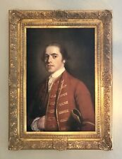 'Portrait of a gentleman' Large gilt framed print - 1760's English country house