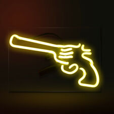 "14""x9""Rifle Pistol Neon Sign Light Shop Bistro Pub Party Wall Hanging Artwork"