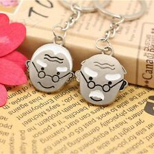 2pcs Pair Couple Keychains Old People Grandma Grandpa USA Shipper Fast #14