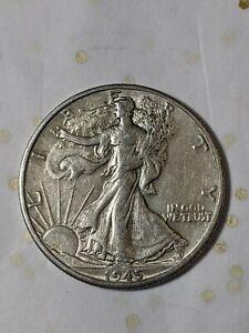 Better 1945-D - US Walking Liberty 90% Silver Half Dollar Coin F21