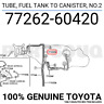7726260420 Genuine Toyota TUBE, FUEL TANK TO CANISTER, NO.2 77262-60420