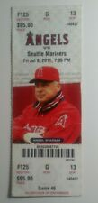 Mike Trout MLB DEBUT TICKET 7/8/11 Angels