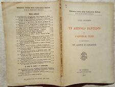 W171-RUBERTO LUIGI, UN ARTICOLO DANTESCO DI GABRIELE PEPE- FIRENZE,1898. INTONSO