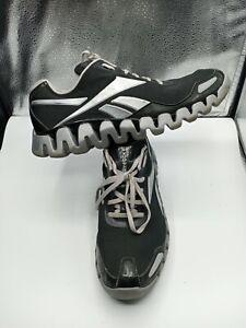 REEBOK Zigdynamic Black Sz 11.5 Men Zigtech Running Shoes